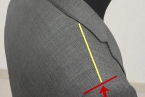 肩線と袖の縫い目の交点から