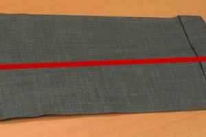 裾までを採寸