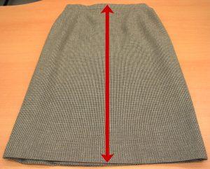 スカート丈寸法